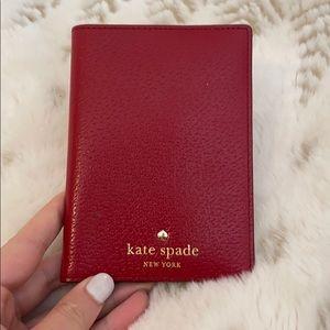 Kate spade leather passport holder